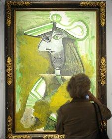 Farewell Femme au Chapeau Picasso 1971   studio nevin